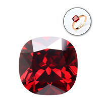 12.85CT PIGEON BLOOD RED RUBY UNHEATED 12MM DIAMOND CUSHION CUT VVS LOOSE GEMS