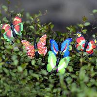 4X Butterfly Miniature Fairy Garden Ornament Plant Pot Craft Dollhouse Decor Z0H