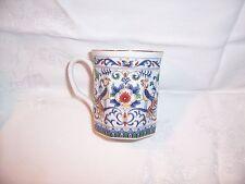 Octagon Coffee Cup Mug Bird of Paradise & Flowers Design  Unmarked