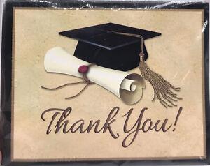 Sophisticate Graduation Thank You Cards Envelopes 16 ct Grad Graduation Thanks
