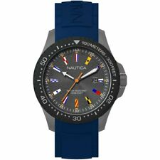 Orologio Uomo NAUTICA JONES BEACH NAPJBC008 Silicone Blu Bandierine Sub 100mt