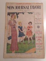 ART DECO 1931 FASHION MAGAZINE FRENCH MON JOURNAL FAVORI CLASSIC DRESS EPHEMERA