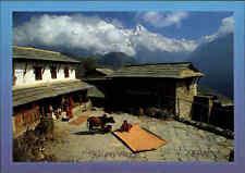 NEPAL Postkarte Himalaja HIMALAYA Region GURUNG Village Bergdorf Annapurna Range