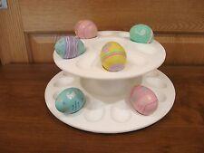 TUPPERWARE 2 tier white deviled egg holder/server Egg-ceptional #3985 Easter