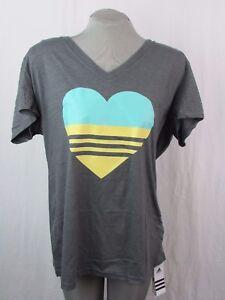 Adidas Heart Logo Climalite Feel Good Women's Organic Cotton V-Neck Tee