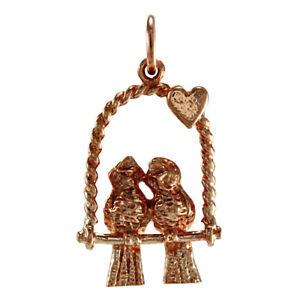 9ct Rose Gold Lovebirds Charm