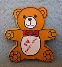 Teddy Bear I Love Smoky Mountains Rubber Magnet Souvenir Travel Refrigerator