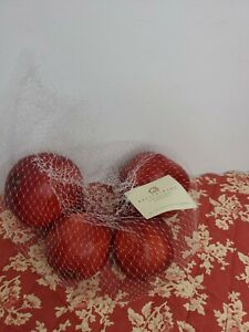 POTTERY BARN Faux Fruit Set of 4 Bag of POMEGRANATES Decoration Country Decor