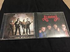 CD LOT OF 2 ALABAMA LIVE AND IN THE MOOD THE LOVE SONGS