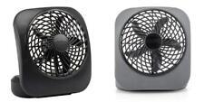 O2COOL Treva 5-Inch Portable Desktop Air Circulation Battery 1 Unit, Black