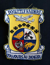 """Doolittle Raiders """"Toujours Au Danger"""" Commemorative Patch - from Jimmy Himself"""