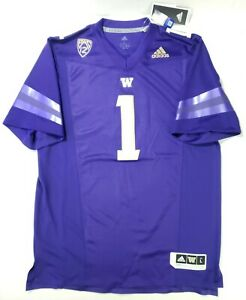 Adidas NCAA Washington Huskies Home Football Purple Jersey Size L FL2088