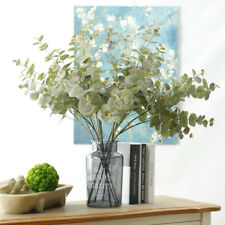 Artificial Silk Plastic Eucalyptus Tree Branches Fake Plant For Home Decoration