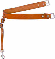 BROWN TOOLED WESTERN LEATHER BACK CINCH FLANK CINCH REAR GIRTH SADDLE HORSE TACK