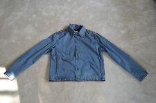 Moschino Jeans Bleu Marine Clous Argentés Boutonné Veste Manteau Homme ITA 50 UK 40