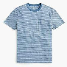 L0519 J. Crew Mercantile Essential Crewneck T-shirt in Stripe, Size Small, NEW