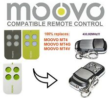 MOOVO MT4, MT4G, MT4V compatible remote control transmitter, 433,92 MHz 4-ch