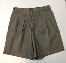 Mens REI Green Shorts 32 Casual Cotton Camping Short Fishing Outdoor Pleated