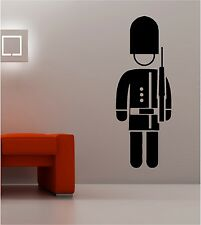 SCOTSGUARD wall art sticker vinyl music LONDON SOLDIER BEARSKIN queen