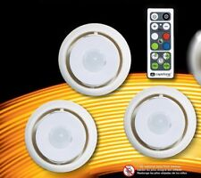 Duracell LED Battery Operated Puck Light (3-Pack) + Remote Control