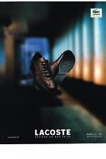 PUBLICITE ADVERTISING  1990  LACOSTE  chaussures de détente