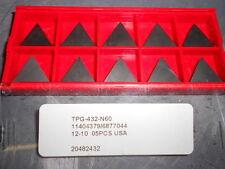Professional TPG-432-N60 Carbide Turning Inserts Qty. 10