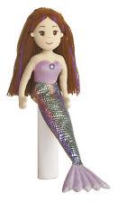 18 Inch Mermaid Doll Merissa Stuffed Plush Toy Friend Brown Yarn Hair 33034