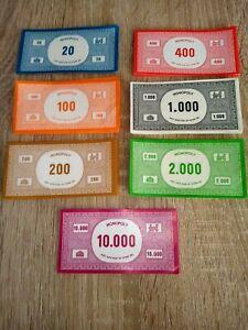 Monopoly alte Spielgeld Geldscheine Mark Ersatzgeld Papiergeld
