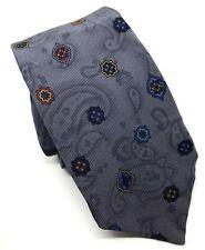 "Francesco Smalto Men's Tie Grey Patterned 100% Silk 3"" Width 60"" Length"