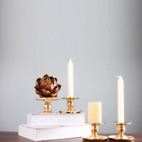 Gold Candle Holder Candlestick Tray Table Tealight Decoration Wedding Decor JH