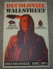 ERNESTO YERENA Silkscreen Print DECOLONIZE WALL STREET Handbill poster fairey