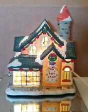 Ceramic Electric Light Up Toy Shop Display Signed C Kao Rite Aid Store Christmas