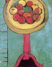 Henri Matisse las manzanas en una mesa, Fondo Verde A4 Foto impresión