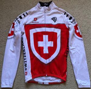086 Switzerland Cycling Bike Jacket Warm  Fleece Lining L/S Stretch Size XS