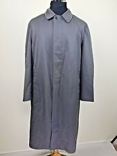 London Fog Trench Coat Mens 46 Regular Button Up Outer Shell Only Gray