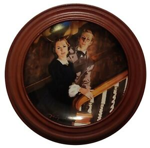 Gone With The Wind GWTW Framed Plate Melanie and Ashley