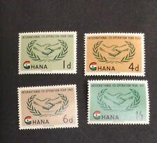 Ghana #200-#203, Mint, NH, OG
