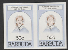 Barbuda (620) 1981 Florence Nightingale 50c IMPERF COPPIA U/M