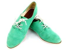 7f0819ae2da Mossimo Womens Size 10 Flat Mint Green Faux Suede Oxford Shoes Driving  Moccasins