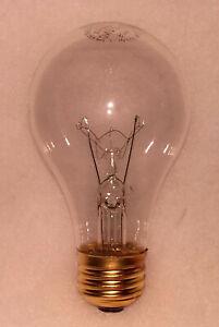 100watt Clear Rough Service, 10k hour, Incandescent Bulbs (2)