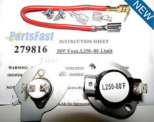 3977393 3390291 Dryer Thermal Cut Out Kit and Fuse for Whirlpool, Kenmore