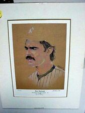 N Y YANKEE GREAT DON MATTINGLY LOOSE LIM. ED. GOLD ART AUTOGRAPHED & MATTED
