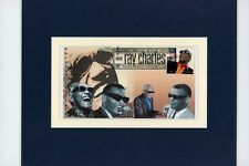 Saluting Blues Great - Ray Charles  &  First day Cover of his own stamp