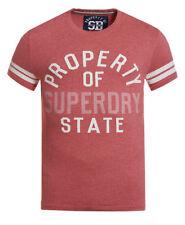 Camisetas de hombre rojos Superdry