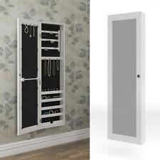 armario con espejo armario joyero espejo de pared blanca joyas grande