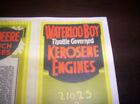 """Waterloo Boy Model """"K"""" Gas Engine Kerosesne Color Sales Brochure"""