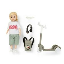 Lundby 60.8081 - DOLLHOUSE DOLLS WITH SCOOTER - Kind mit Roller 1:18