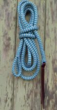 8ft Lead Rope (2.4m) with Loop - Blue/Beige Zig Zag by Natural Equipment