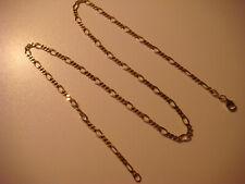 Figarokette 925 Silber vergoldet 49 cm