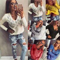 Women's Long Sleeve Knitted Cardigan Jumper Knitwear Outwear Coat Loose Sweater